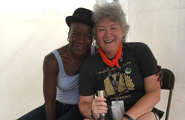 Cécile Doo-Kingué - Folk Roots Radio at Hillside 2018