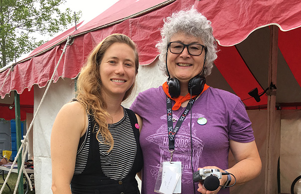 Dana Sipos - Folk Roots Radio at Hillside 2018